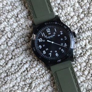 Gorgeous army green Coach watch